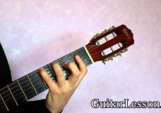 Аккорд G#6 или Ab6 на гитаре