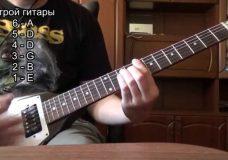 Альтернативный строй гитары (Drop Х З)