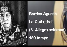 Barrios Agustin — La Cathedral (3. Allegro solemne) 150 tempo