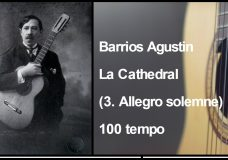 Barrios Agustin — La Cathedral (3. Allegro solemne) 100 tempo