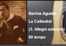 Barrios Agustin — La Cathedral (3. Allegro solemne) 60 tempo