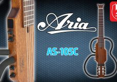 Электроакустическая гитара ARIA AS-105C (Aria Sinsonido silent travel guitar)