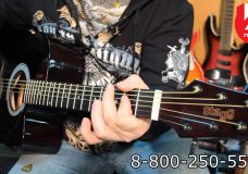 Гитара электроакустическая STAGG SW203CETU-BK