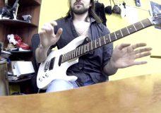 Гитарное упражнение. Отлично развивает координацию левой руки.