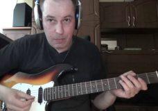 Глушение струн на гитаре левой рукой — крестики в табулатуре