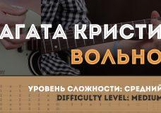 Как играть на гитаре Агата Кристи Вольно