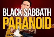 Как играть на гитаре Black Sabbath Paranoid