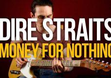 Как играть на гитаре Dire Straits Money For Nothing разбор с табами — Первый Лад