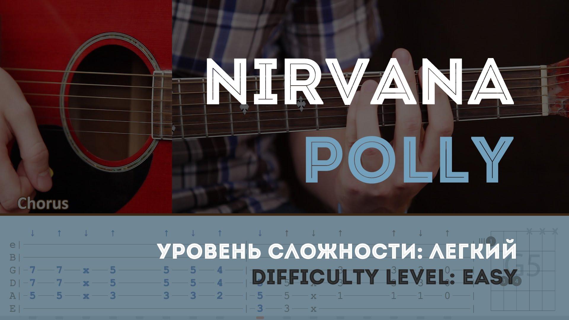 Как играть на гитаре Nirvana Polly (Guitar tutorial)