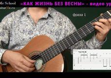 КАК ЖИЗНЬ БЕЗ ВЕСНЫ на гитаре — видео урок 3 из 3 GuitarMe.ru