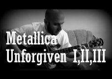 Metallica — Unforgiven I,II,III Fingerstyle Guitar Covers