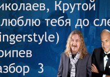 Николаев, Крутой — Я люблю тебя до слез (fingerstyle) Припев
