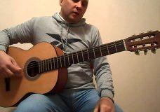 Очень лёкгая и красивая мелодия на гитаре.Урок