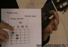 Первые аккорды на гитаре