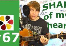 Sting — shape of my heart cover, guitar, разбор, перебор