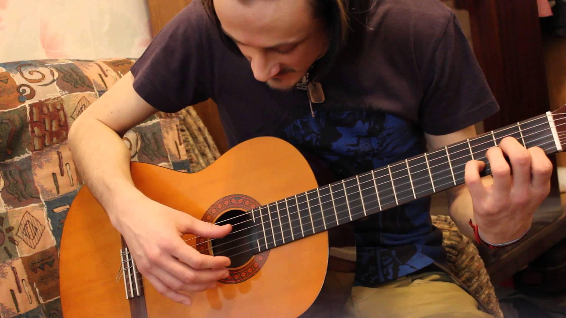 Уроки гитары. Бой Четверка, 1 вариант, с примером в песне гр. КИНО 'Пачка сигарет'