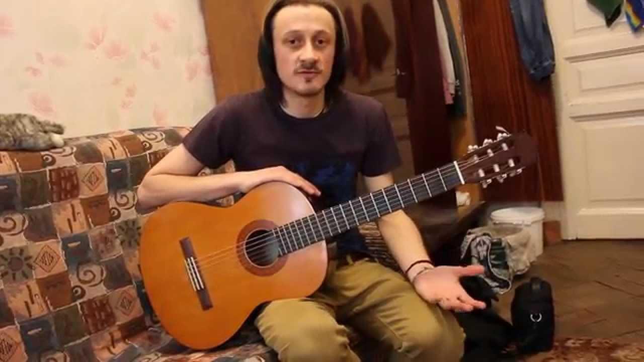 Уроки гитары. Простой бой 'четверка' с примером в песне гр. КИНО 'Пачка сигарет'