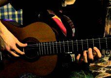 Уроки гитары. Упражнения для левой руки. Упражнение 3.