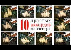 10 простых аккордов на гитаре (без баррэ) как играть (видео для новичков)