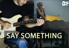 A Great Big World ft. Christina Aguilera — Say Something — Electric Guitar Cover by Kfir Ochaion