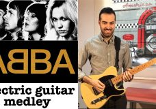 ABBA electric guitar cover 4 hits medley