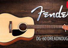 Акустическая гитара FENDER DG-60 (new Fender Acoustic Guitar Review) — YouTube