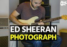 Ed Sheeran — Photograph — Electric Guitar Cover by Kfir Ochaion