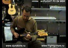 Электрогитара Flight PX E-4 MBK — демонстрация звучания