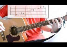 Гитара упражнение для пальцев левой руки-5