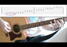Гитара упражнение для развития пальцев рук-2