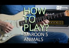 How to Play — Animals by Maroon 5 on Electric Guitar — Guitar Lesson Tutorial