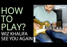 How to Play — See You Again by Wiz Khalifa on Electric Guitar — Guitar Lesson Tutorial