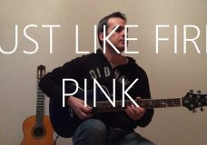 Just Like Fire — Electric guitar cover — Pink (Alice Through the Looking Glass)