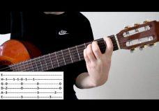 Как играть мелодию из фильма титаник на гитаре
