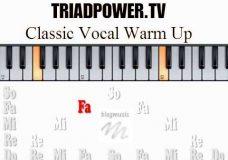 Классическая вокальная распевка для начинающих