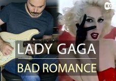 Lady Gaga — Bad Romance — Electric Guitar Cover by Kfir Ochaion