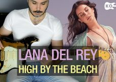 Lana Del Rey — High By The Beach — Electric Guitar Cover by Kfir Ochaion