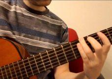 Очень простая мелодия на гитаре ее разбор. Для начинающих. Разминка