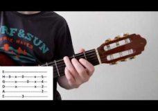 Разбор на гитаре шикарной мелодии, уроки гитары, видео уроки на гитаре