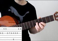 Разбор очень красивой и простой мелодии на гитаре для начинающих