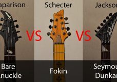 Schecter VS Jackson VS Caparison. Fokin VS Seymour Dunkan VS Bare Knuckle pickups..