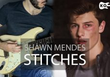 Shawn Mendes — Stitches — Electric Guitar Cover by Kfir Ochaion