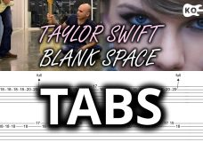 Taylor Swift — Blank Space — Electric Guitar Cover by Kfir Ochaion — Tabs