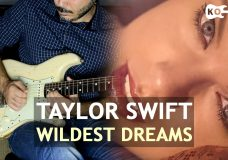 Taylor Swift — Wildest Dreams — Electric Guitar Cover by Kfir Ochaion