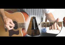 Упражнение для ритма на гитаре и барабанах