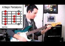 Урок гитары — Мажорная пентатоника для Blues, Rock, Pop, Reggae, Ballads Lead Soloing