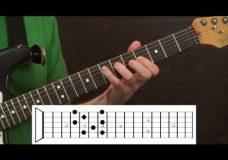 Урок гитары арпеджио для блюза