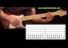 Урок игры на гитаре легкий блюзовый рифф