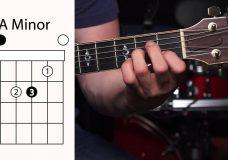 Урок игры на ритм-гитаре как играть открытые аккорды
