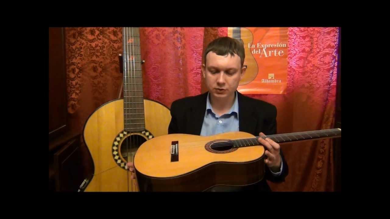 Видео обзор классической гитары Alhambra 4P (guitar review).